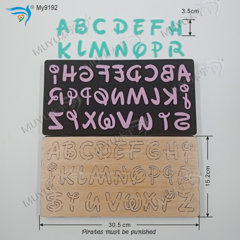 Black Alphabet Suit DIY New Wooden Mould Cutting Dies For Scrapbooking Thickness/15.8mm /Tmy9192