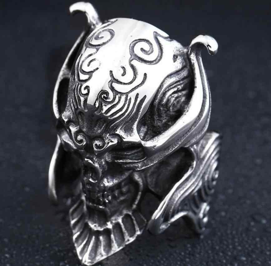 Moda Unissex Esqueleto Crânio dos homens Anel de Aço Inoxidável Anel Da Jóia Anel de Prata do Crânio Do Punk Rock