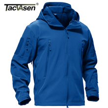 TACVASEN Winter Jacket Mens Army Coat Military Tactical Fleece Jacket Waterproof Softshell Jackets Hoodies Airsoft Coat Men 4XL