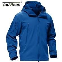 TACVASEN kış ceket erkek ordu ceket askeri taktik polar ceket su geçirmez Softshell ceketler Hoodies Airsoft ceket erkekler 4XL