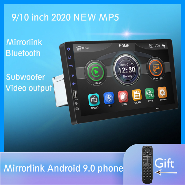 "9"" Touch Mirrorlink Android phone Radio MP5 Player Bluetooth USB Rear View Camera car radio 1Din Autoradio No Android"
