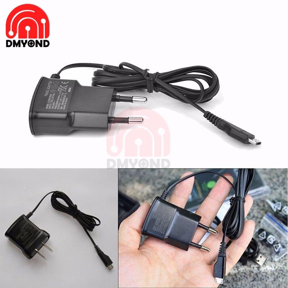 Cargador de pared para el hogar, Cable adaptador, fuente de alimentación de viaje para teléfono móvil, AC 5V, 0.7A, Qc 3,0, Micro USB, enchufe europeo