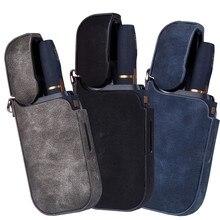 Cigarette accessories portable luxury leather box IQOS electronic cigarette case protective cover