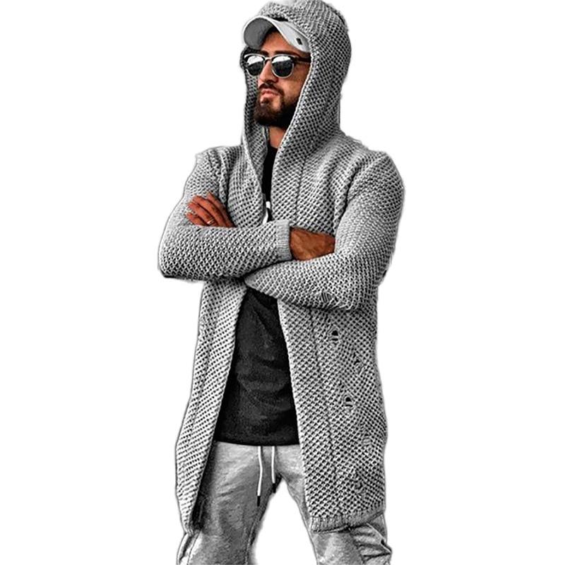Spring Autumn 2021 Men' s Outwear Fashion Long Length Cardigan Men