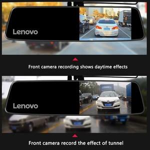 Image 3 - Oryginalny Lenovo Dash Cam podwójny obiektyw lusterko wsteczne kamera Night Vision Dashcam rejestrator wideo ustawienia tablic rejestracyjnych IPS Car DVR