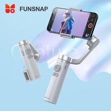 Funsnap cattura Smartphone Gimbal stabilizzatore portatile pieghevole a 3 assi per iPhone Selfie Stick in metallo Zoom Focus Control Vlog Live