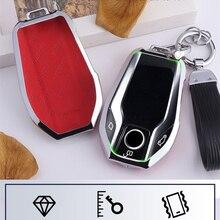 Carbon fiber+Zinc key case for car for BMW 7 Series 740 6 Series GT 5 Serie 530i X3 car keychain car key case smart holder new rock vision series case for iphone 7 4 7 carbon fiber texture tpu pc mobile shell gold