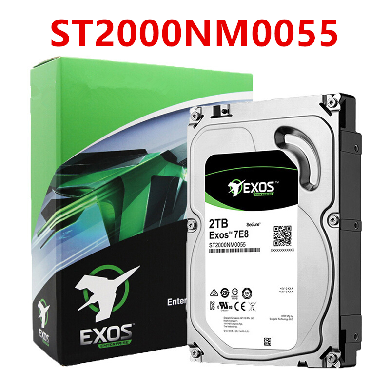 """New HDD For Seagate Brand 2TB 3.5"""" 7.2K SATA 6Gb/s 128MB 7200RPM For Internal Hard Disk For EnterpriseHDD For ST2000NM0008 2"""