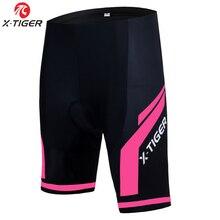 X tiger mulher ciclismo shorts 3d sílica gel acolchoado à prova de choque mtb mountain racing bicicleta shorts cueca