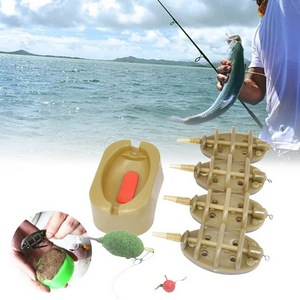 Practical Outdoor Carp Fishing Bait Thrower Tools Portable Flat Method Mold Inline Feeder Easy Apply Durable Sturdy Accessories