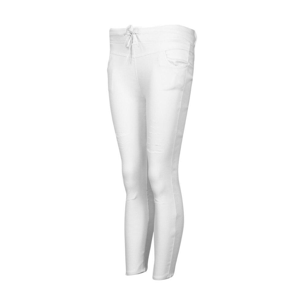 H97bafe72fd174dcf84d461ca0574de9cW White Jeans Feminino Plus Size Candy Pantalon Femme Black Skinny Jeans Woman Long Pants Large Size Jeans For Women