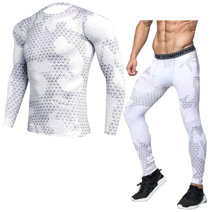 Compression sport suits fast drying sports sport sport men running clothes sets joggers training gym fitness training set 1