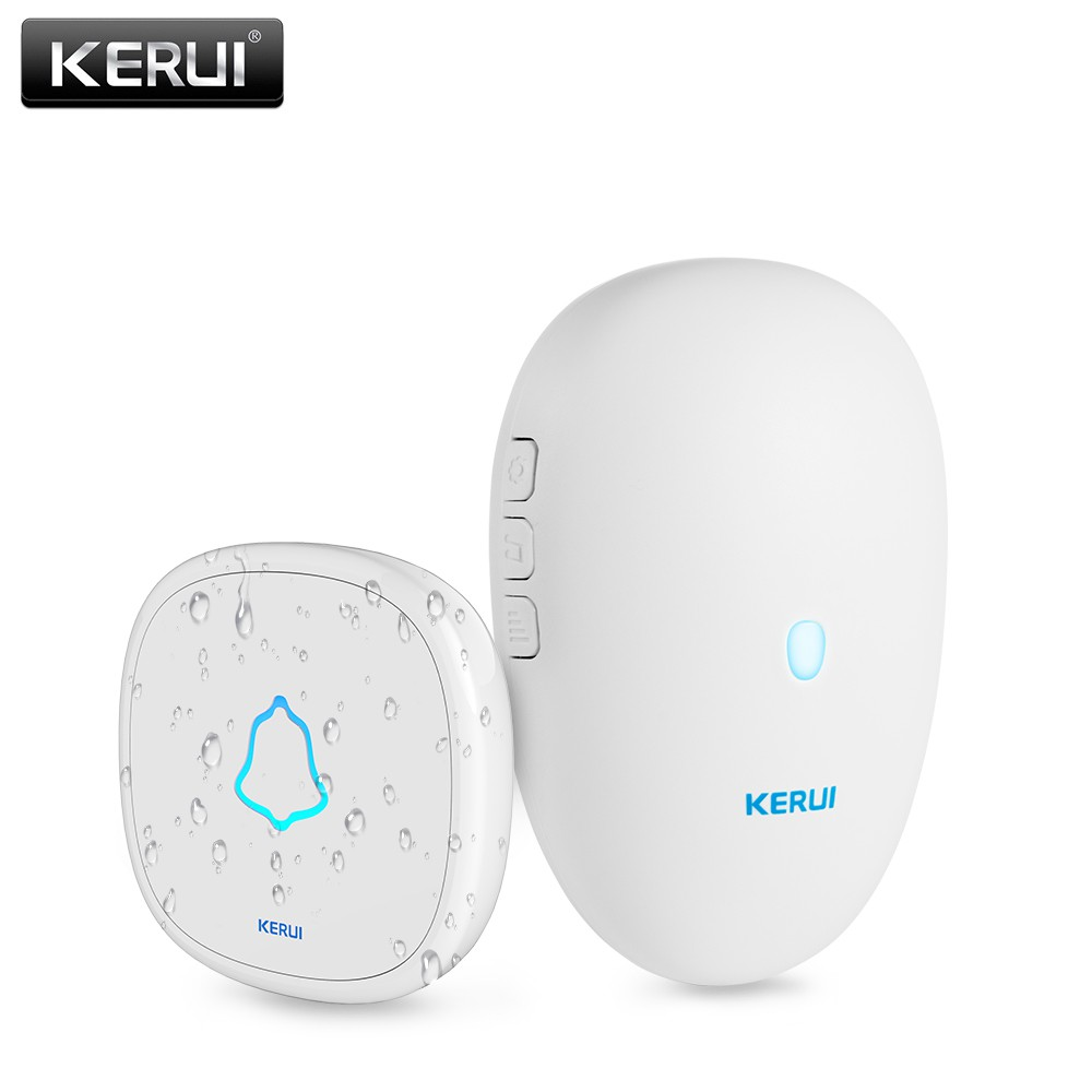 KERUI M521 Smart Doorbell 57chimes Waterproof Wireless DoorBell Alarm LED Night Touch-button Smart Home Security Welcome Chime