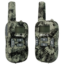 2pcs Mini Walkie Talkie Retevis RT33 0.5W PMR446MHz Portable 2 Way Radio USB Charging VOX CTCSS/DCS Gift Kids Radio Camouflage