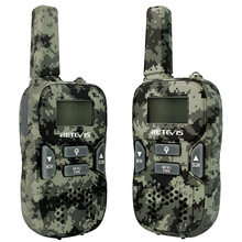 2pcs Mini Walkie Talkie Retevis RT33 0.5W PMR446MHz Portable 2 Way Radio USB Charging VOX CTCSS/DCS Gift Kids Radio Camouflage(China)