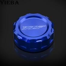 цены LOGO yzf motorcycle CNC  brake Fluid Reservoir Cap Cover for yamaha YZF R1 1999-2001 YZF R1 2002 2003 YZF R6 1999-2004
