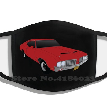 1970 W30 Oldsmobile Cutlass Printing Washable Breathable Reusable Cotton Mouth Mask Muscle Car Car South Usa Super Car Sports image