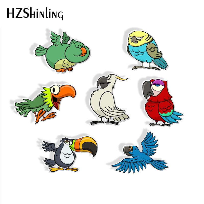 2019 New Arrival Epoxy Acrylic Brooch Cartoon Cute Birds Colorful Parrot Icons Acrylic Badge Pin Handmade Acrylic Brooches Brooches Aliexpress