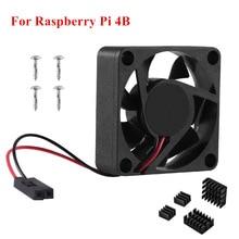 Aokin Raspberry Pi 4 Cooling Fan DC 5V 3510 Cooler with Aluminum Heat Sink Radiator For Raspberry Pi 4 Model B RPI 4B Case