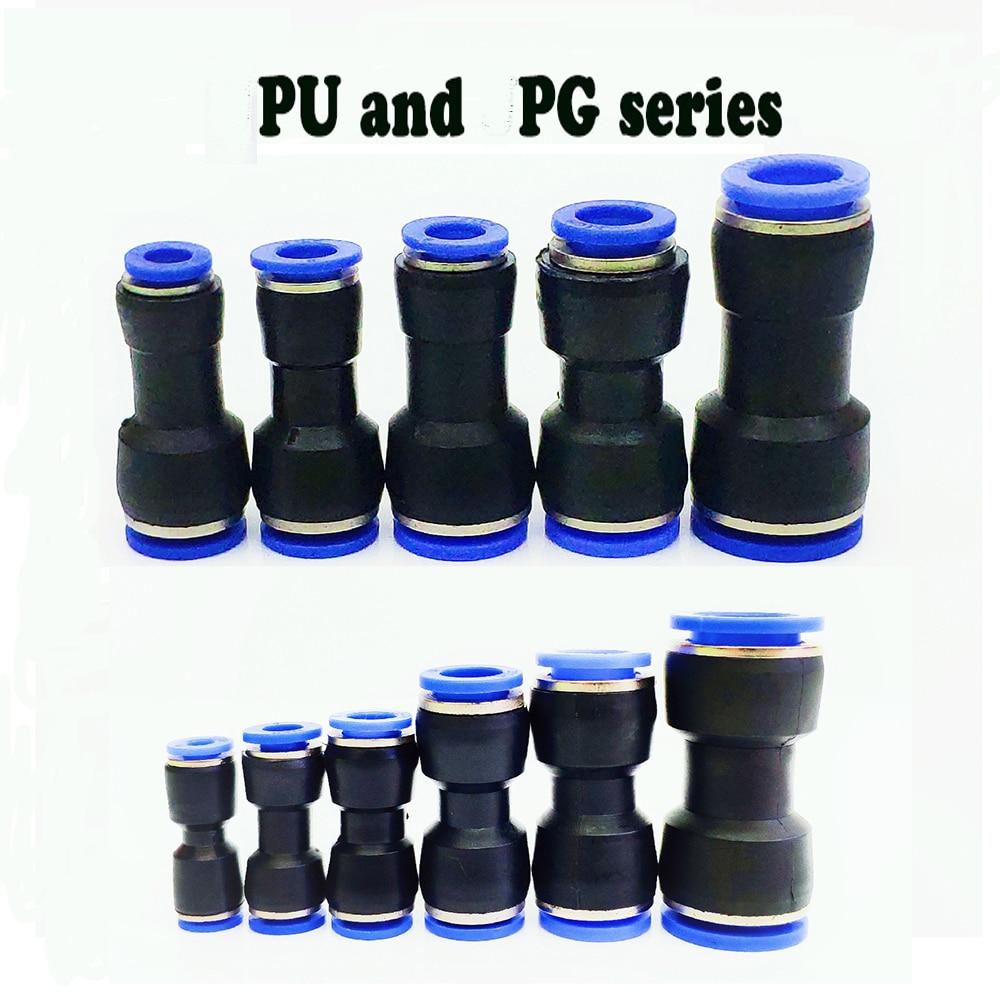 Raccords pneumatiques PU 10mm 8mm 6mm 12mm 4mm Tube de tuyau d'eau à air One Touch raccords instantanés droits tube de connecteur rapide en plastique
