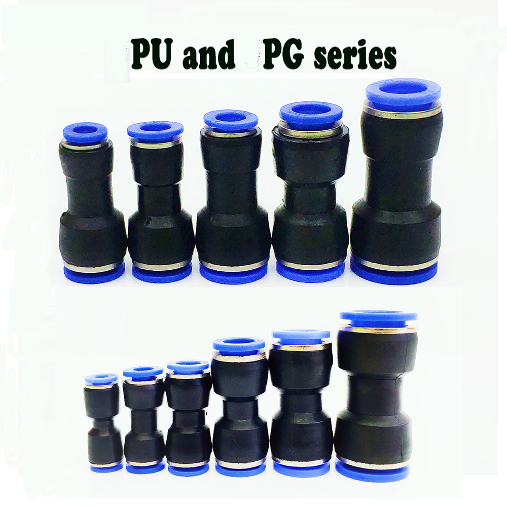 <font><b>Pneumatic</b></font> fittings PU 10mm 8mm 6mm 12mm 4mm <font><b>air</b></font> water Hose Tube One Touch Straight push-in Fittings Plastic Quick <font><b>Connector</b></font> tube image