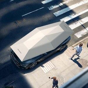 Image 4 - 1Pcs OEMโลโก้4.5เมตรรถอัตโนมัติรถร่มเต็นท์Anti UVป้องกันรถอุปกรณ์เสริมWireless Controller