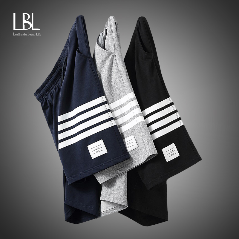 2020 Men Shorts Summer Casual Shorts Drawstring Trunks Fitness Workout Beach Shorts Man Breathable Cotton Gym Short Trousers