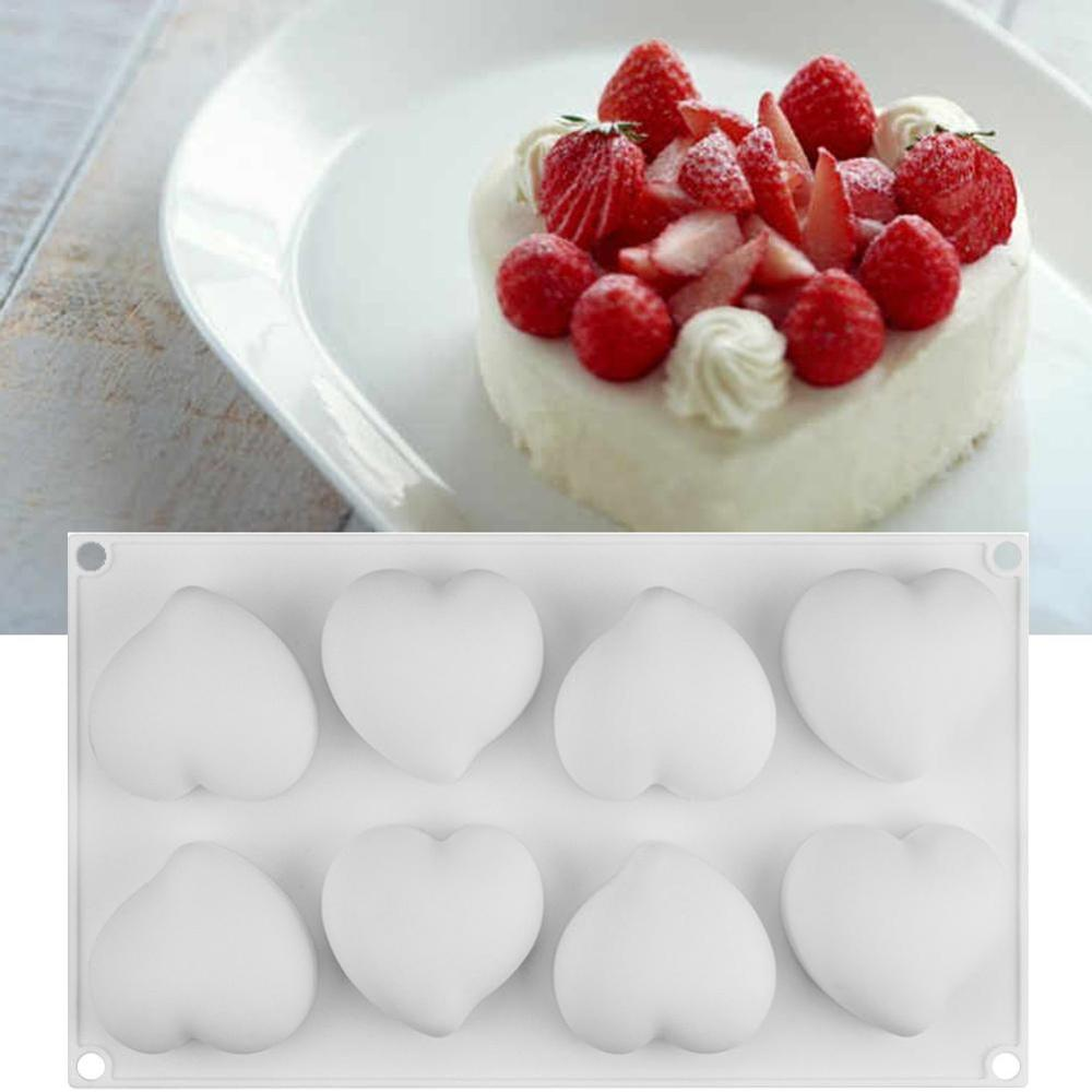 NEW Silikone Form For Mousse Cake Heart Wedding 3D Silicone Molds Cake Decorating Tools Bakeware Dessert Moulds #BO
