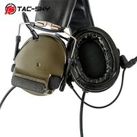outdoor sports TAC-SKY COMTAC III Silicone Earmuffs Double Pass Edition Outdoor Hunting Sports Noise Reduction Pickup Tactical Headset - FG (4)