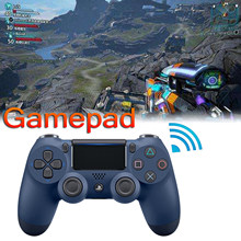 Joystick sem fio do controlador bluetooth do gamepad da vibração com barra clara bt3.0 para o console dos jogos ps4