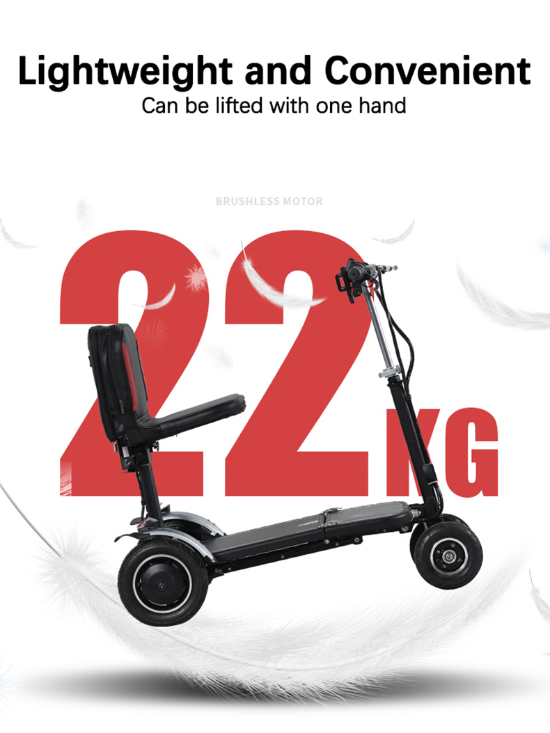Acquistare Benessere E Salute Light Step Elderly Scooter Four Wheel Electric Scooter Folding Portable Elderly Disabled Power Car Smart Scooter
