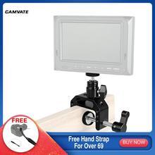 """Camvate C Klem Met 360 ° Swivel Balhoofd Ondersteuning Houder & 1/4 """" 20 Schroefdraad Voor Monitor/Video Licht/Flash/Microfoon Montage"""