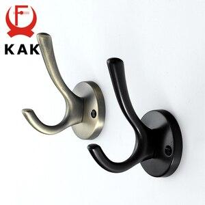 Image 5 - KAK Zinc aleación Vintage bronce gancho perchas gancho de pared para abrigo bolsa sombrero ganchos para baño o cocina Anitque bastidores con tornillos