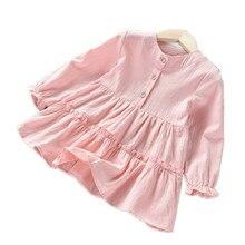 VIDMID wholesale girls long sleeves dresses kids cotton clot
