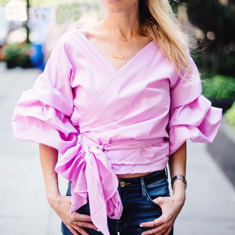 fashion 2020  Women's Ladies Summer Long Classics Comfort Elegance Sleeve Shirt Sexy Fall Autumn Casual Blouse Tops Shirt 90s