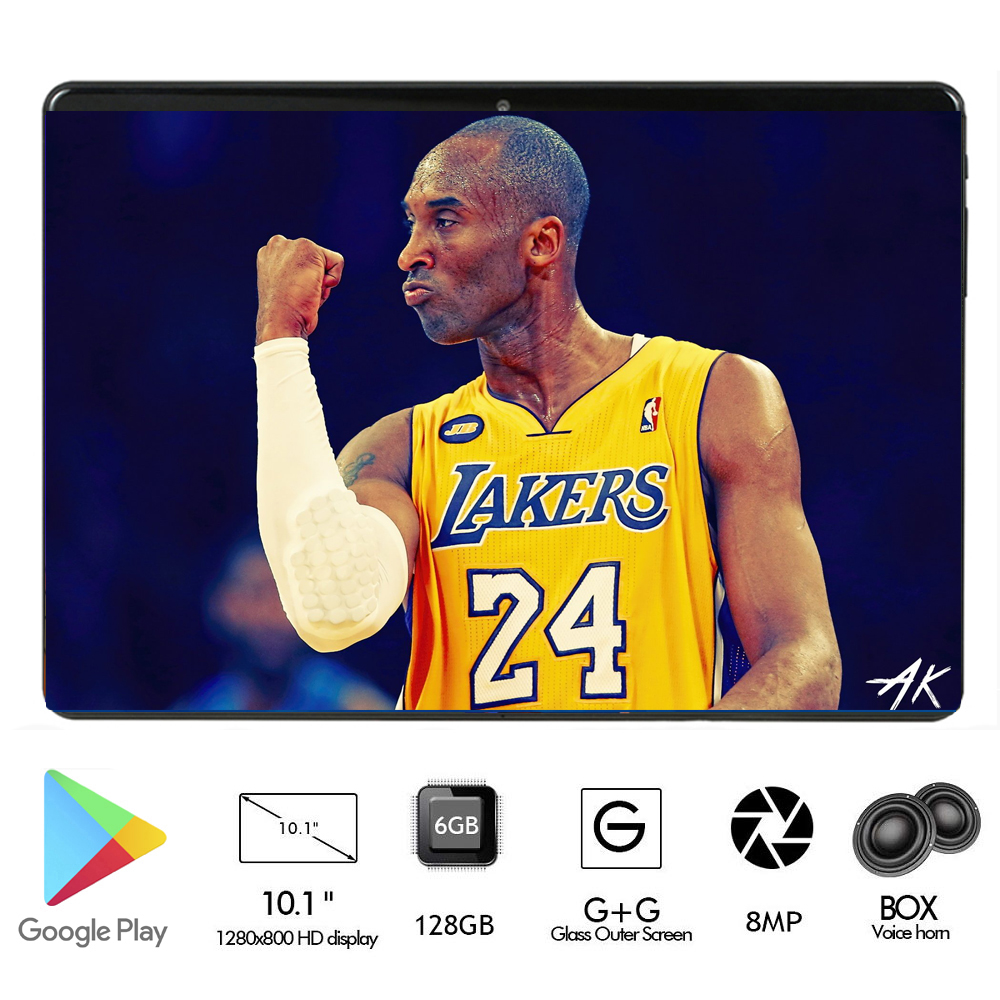 New 10 Inch Android 9.0 4G FDD LTE Cell Phone Tablet 6GB RAM 128GB ROM Octa Core 2.5D Glass Screen Wifi GPS Tablet 10