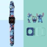Stich Blau Smartwatch Armband Ersatz Band Für Iwatch Silikon Handgelenk Gurt Für Apple Uhr 4 5 6 SE