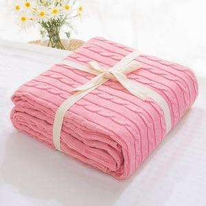 Image 3 - 販売 格子縞の毛布ベッドカバーソフトスローブランケットベッドカバー寝具ニット毛布空調快適な睡眠ベッド