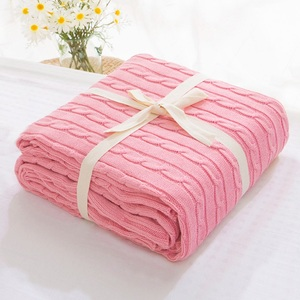 Image 3 - Sale Plaid Blankets Beds Cover Soft Throw Blanket Bedspread Bedding Knitted Blanket Air Conditioning Comfy Sleeping Bedspreads