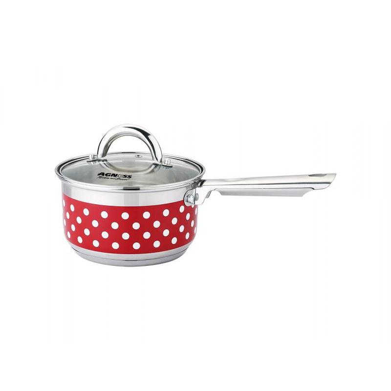 Ladle AGNESS, Polka Dot, 1,9 L, steel/Red tie neck polka dot top