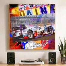 F1 формула один гоночный автомобиль граффити картина маслом