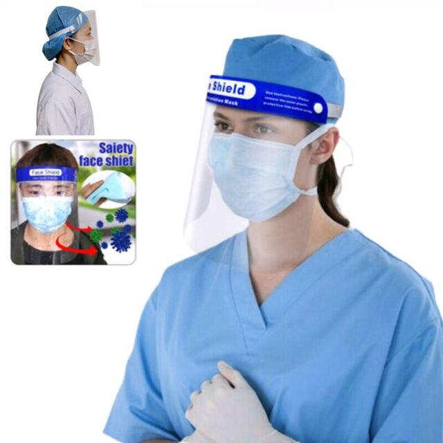 Anti Saliva UV Hat Full Face Shield Masks Epidemic Protection Hat Clear Anti-fog Windproof Isolation Visors Hats