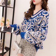 autumn knit long-sleeved top