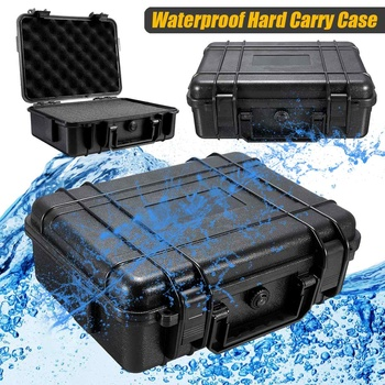 7 Sizes  Waterproof Hand Carry Tool Case Bag Storage Box Camera Photography With Sponge Black