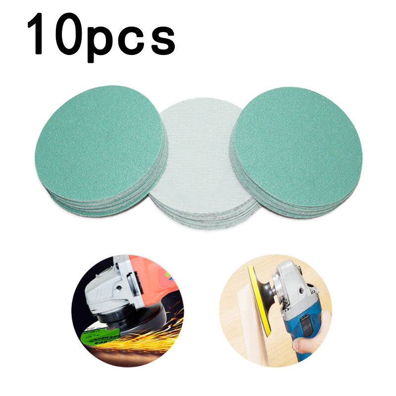 10Pcs 5 Inch 125mm Green Polishing Disc Sandpaper Dry And Wet Sanding Sheet 1000#, 1200#, 1500#, 2000#