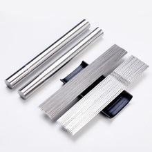 (50 個/チューブ) ステンレス鋼ラウンドフラットバーベキュー串バーベキュー針グリルバーベキュースティックチューブ
