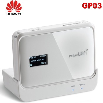 Original Unlocked Huawei GP03 3G Wifi Router 42mbps With SIM Card Slot Support USB Port WCDMA 900/2100MHZ-in Modem-Router Combos цена 2017