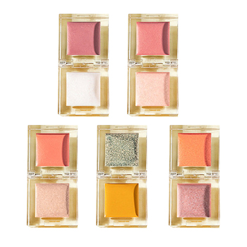 Ice Cube 2-In-1 Highlight Blusher Face Pigment Powder Glitter Blush Rouge Fanta Bubble Color Blush Rouge Cream image