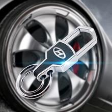 Metal Keychain Key-Ring Auto-Accessories Solaris Creta Hyundai Santa Car for Fe Sonata
