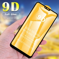 9D de cristal para OPPO A74 A52 A72 A73 5G A91 A31 A9 A5 2020 A75 A5s A5 A3s Protector de pantalla de vidrio templado de la cubierta completa de la película